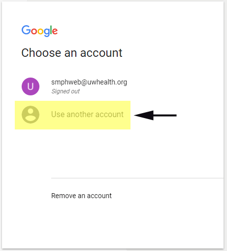 Google account switch