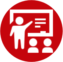 Icon which redirects to Orientation and Facilitation Skills. You can also click on the caption below.